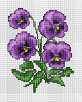 Purple Violets pattern