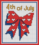 Patriotic ribbon in red, white and blue. Suitable for greeting cards and others crafts projects celebrating Independence Day.