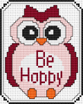 Be Happy Owl pattern