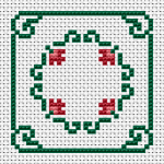 Mini Roses Biscornu pattern