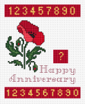 Cross stitch digits in two sizes: 6 and 7 stitches high.