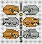 I Love Cats pattern