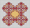 Decorative Motif in Red and Yellow