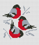 Trio Red Cardinals pattern
