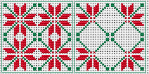 Poinsettia Biscornu pattern