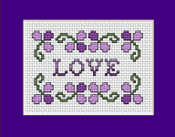 Violet Love pattern