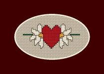 Two Flowers One Heart pattern