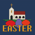 Easter Church pattern
