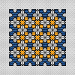 Blue and Yellow Motif pattern