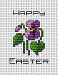 "Miniature greeting card for Easter with the inscription: ""Happy Easter"""