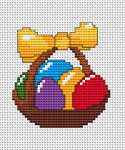 Easter-themed cross stitch patterns