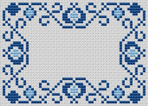 Blue Motif pattern