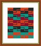 An abstract cross stitch design resembling fabric patterns.Contains only full stitches.