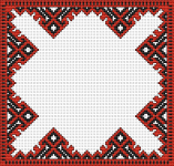 The pattern is for tablecloth and based on traditional Bulgarian  embroidery.