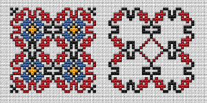 Biscornu 4 colors pattern