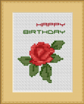 Rose Birthday pattern