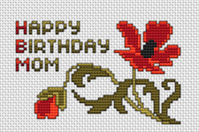 Happy Birthday Mom pattern