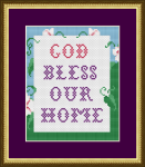 God Bless Our Home cross stitch wall decor.