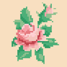 Small design of miniature roses suitable for making cards.