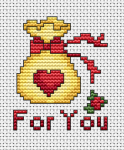 The most desired gift for St. Valentine's Day - a heart of fire with lots of love. Send this  small cross stitched card  to your loved ones and celebrate the day.