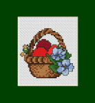 This little basket of Easter eggs and spring flowers can be given to your loved ones. All you have to do is simply embroider it and make a nice card.