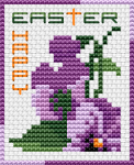 Celebrate the season with this small and easy Easter-themed floral cross stitch card.Happy Easter !