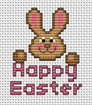 Let this cross stitch card with a cute Easter Bunny bring a lot of joy to your loved ones.Happy Easter !