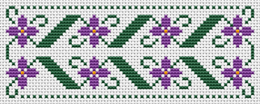 Quick and easy floral bookmark cross stitch pattern,great for beginners.You can change the colors if you like, or use only one color, a matter of choice.Happy stitching !