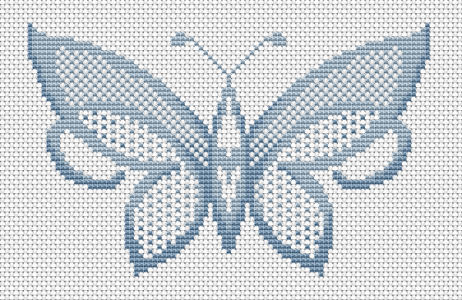If you like butterflies and blue colors - this is the perfect pattern for your cross stitch  projects.
