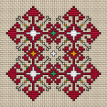 A small motif in the style of a traditional Bulgarian embroidery