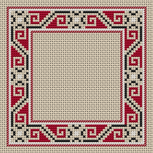 "Download and print the ""Border Half Cross Stitches"" cross stitch pattern"