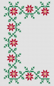Christmas Border Cross Stitch Pattern