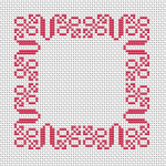 Monochrome cross stitch pattern suitable for different small projects and also for beginners.Happy stitching !
