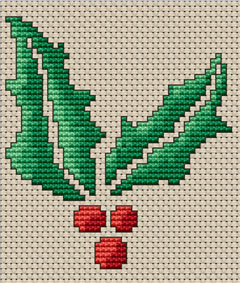 "Download and print the ""Holly"" cross stitch pattern"