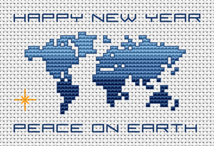 "Download and print the ""Happy New Year "" cross stitch pattern"