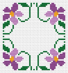 This small cross stitch pattern is very suitable for making a biscornu or a greeting card if you add your own text in the middle of the design.Create and have fun!