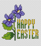 Here's how you can celebrate Easter with this bright cross stitch card with spring flowers and a very festive mood.