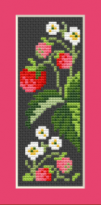 "Download and print the ""Strawberries"" cross stitch pattern"