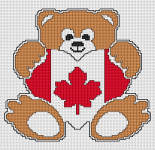 Little teddy bear with Canadian flag.Dedicated to  Canada Day July 1