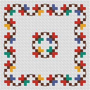 Colorful Border Cross Stitch Pattern