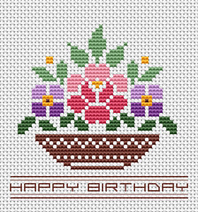 "Beautiful birthday card with flowers and text. Make a unique gift for loved ones and friends to say ""Happy Birthday!"""