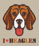 Everyone has a favorite dog breed. This cross stitch pattern is for beagles lovers.