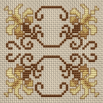 This beautiful biscornu pattern is equally beautiful with or without a backstitch - so you decide!