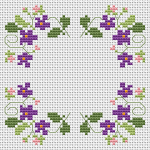 A simple delicate cross stitch pattern of flowers.You can add individual text in the middle or make a beautiful floral biscornu.