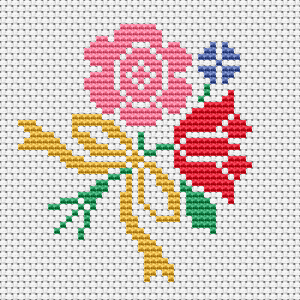 Make a beautiful cross stitch card with this bouquet of flowers for family and friends.