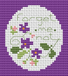 "The pattern is intended for a small cross stitch card with the text: ""Forget-me-not"". We never forget our friends and where we came from."