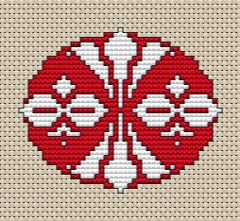 Free Counted Cross Stitch Pattern - Name and School Motif - Free