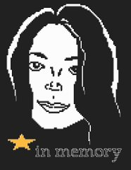 Cross stitch pattern in memory of Michael Jackson.