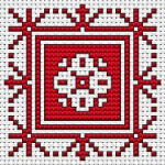 Biscornu Assisi Style pattern