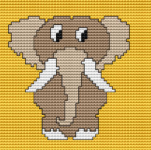 Funny Baby Elephant pattern